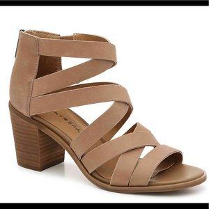 NWOB Luck Brand Kallia Sandal Color Taupe SZ 9.5